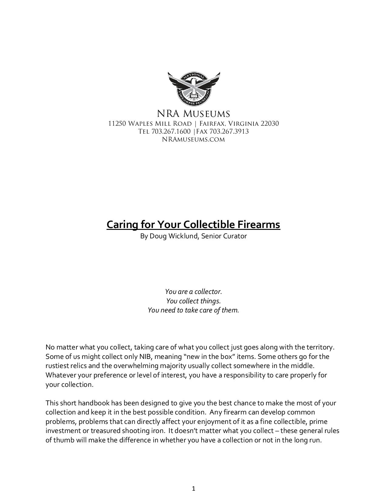 caring for your collectible firearms by doug wicklund-page-001